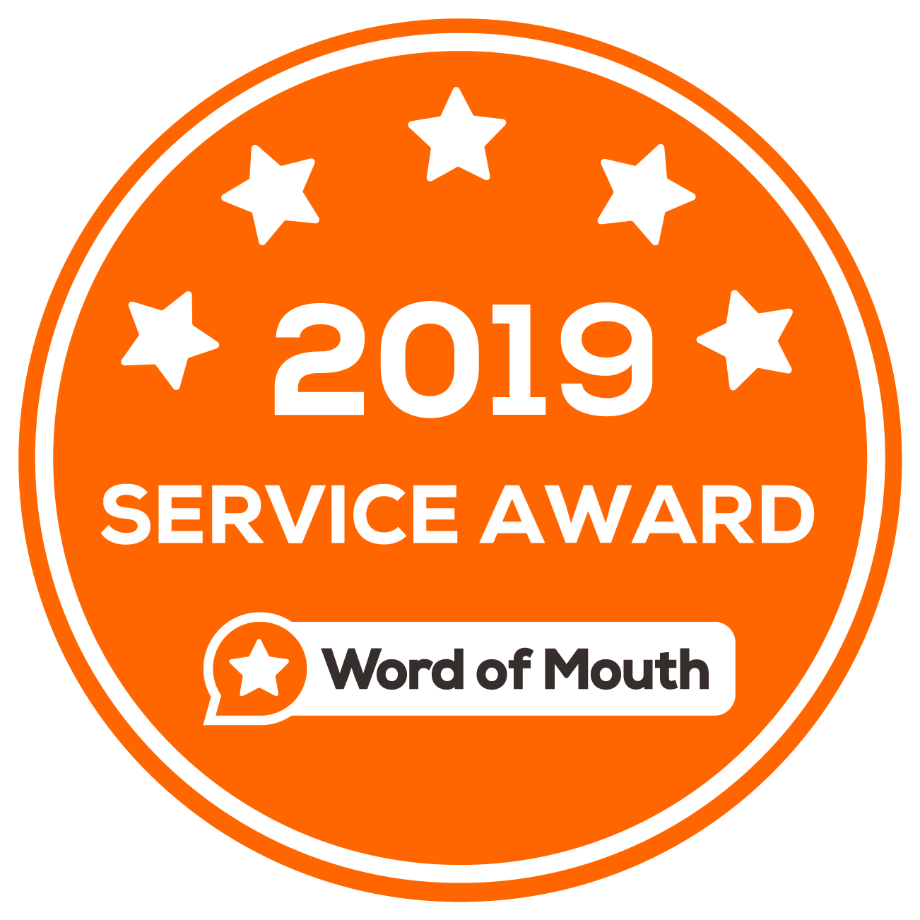 Word of Mouth 2019 Service Award